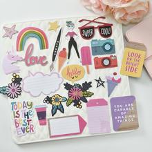 Faites soi-même des découpes de papier colorées   Vrais rêves, pour bricolage, Scrapbooking/album photo, carte de décoration, fabrication dartisanat