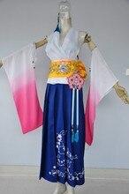 Fantaisie finale X Yuna anime cosplay déguisement dhalloween haut + jupe + ceinture + manches