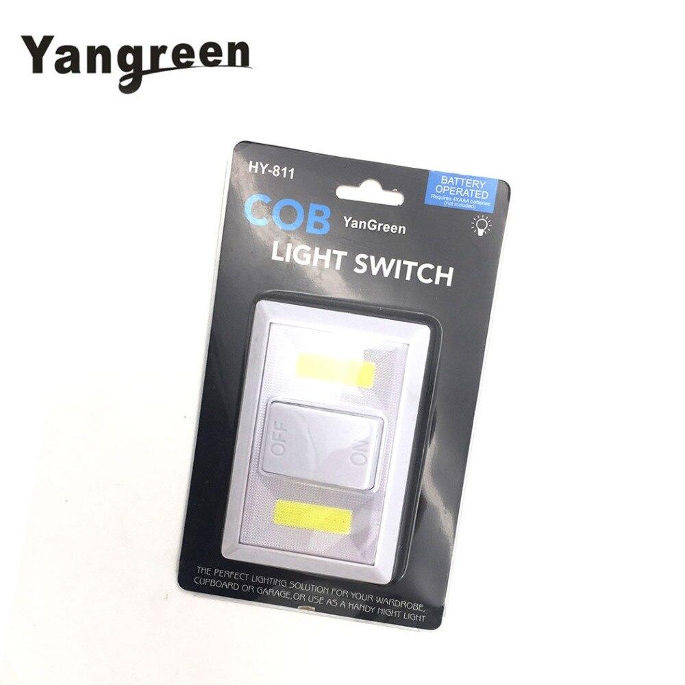 Yangreen inalámbrico COB LED luz de noche de armario alacena escalera lámpara de pared magnética Ultra brillante Mini luz Led con batería