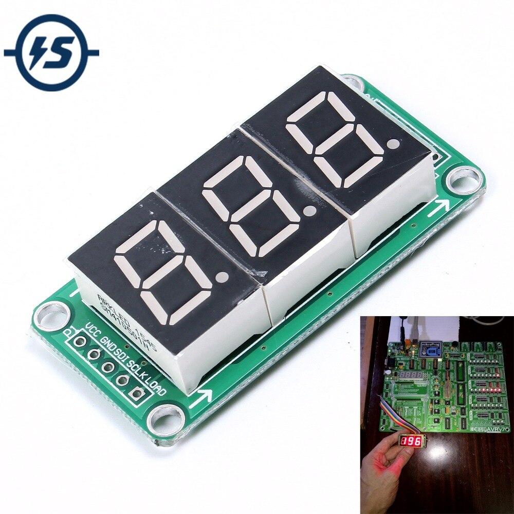 74HC595 статическое Вождение 3-сегментный модуль цифрового дисплея бесшовные Can серии 0,5 дюйма 3-ярко-красный
