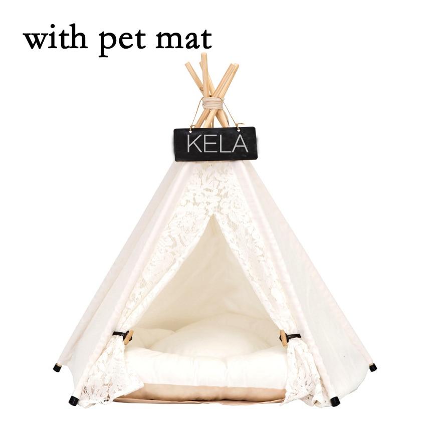 JORMEL Pet Zelt Haustier bett Tragbare Waschbar Hund Welpen Spielzeug Haus Katze Tipi Stern Muster Enthalten Matte Neue 2019