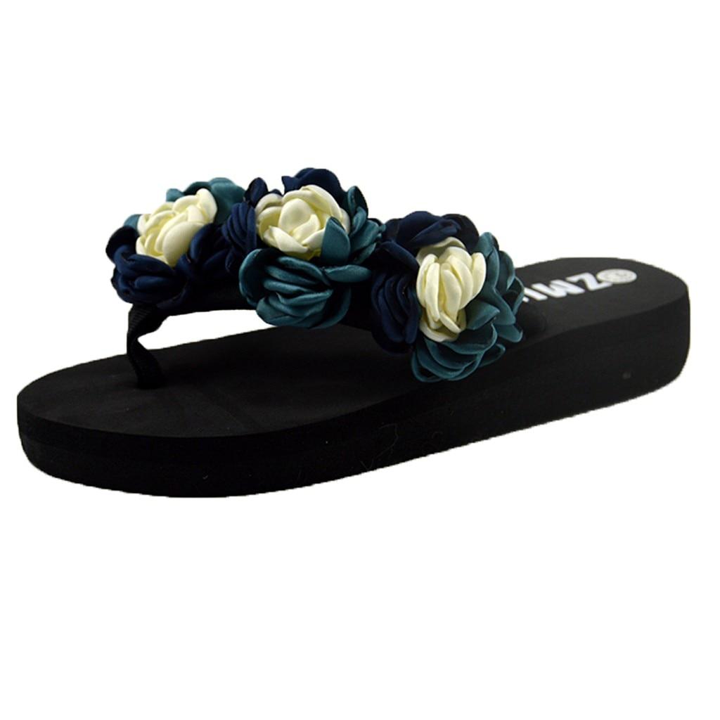 Zapatillas SAGACE de verano antideslizantes a la moda para mujer, Muffin, zapatillas con suela de lazo para mujer, chanclas Clip dedos, zapatos de plataforma para baño y playa