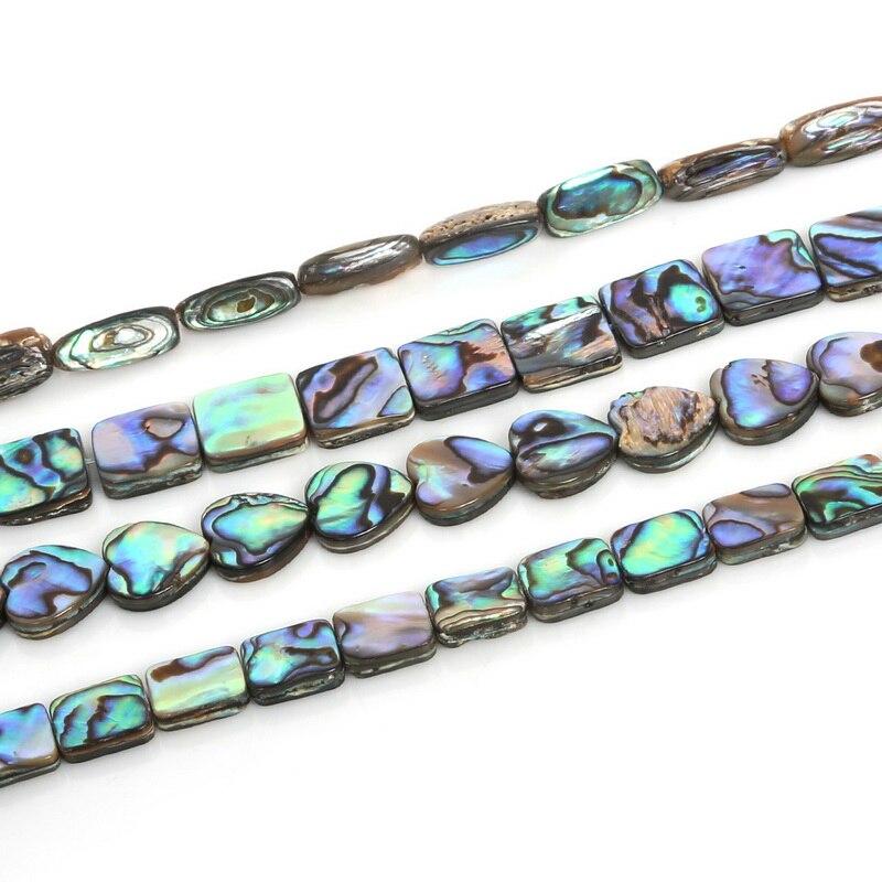 Moda várias cores misturadas abalone natural concha do mar contas para o sexo feminino diy jóias pulseiras colares