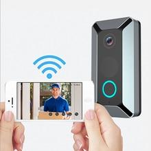 Sonnette vidéo 1080 HD sans fil V6   Sonnette vidéo à induction automatique IP64 caméra de sécurité WiFi étanche HD vidéo en temps réel
