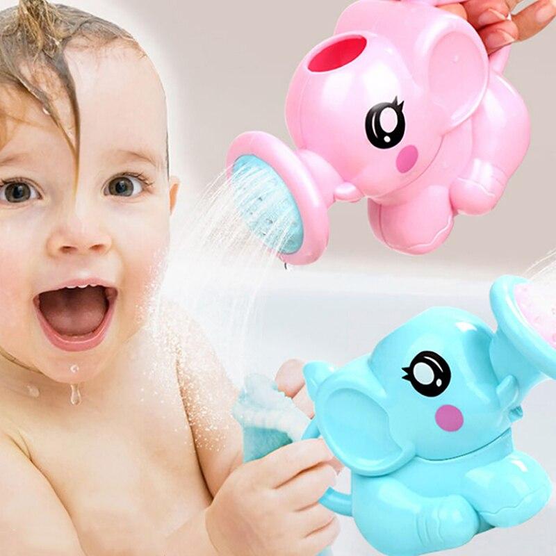 Água elefante bonito rega pote de banho do bebê brinquedo areia ferramenta brinquedos praia jogar 1 pc