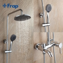 Frap 1 set Bathroom Rainfall Shower Faucet Set Mixer Tap With Hand Sprayer Wall Mounted chrome F2416