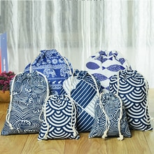 New Drawstring Cosmetic Bag Travel Luggage Makeup Bags Ladies Fabric Make Up Bath Organizer Storage