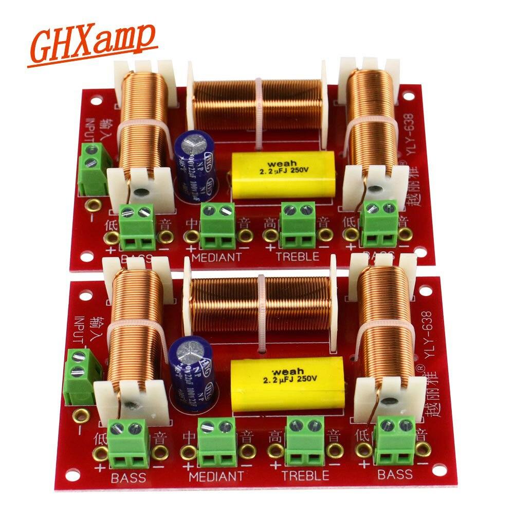 200W dwa Bass Crossover Treble + Midrange + podwójny głośnik niskotonowy Crossover Audio 3 Way Crossover dzielnik częstotliwości 4-8OHM 1 pary