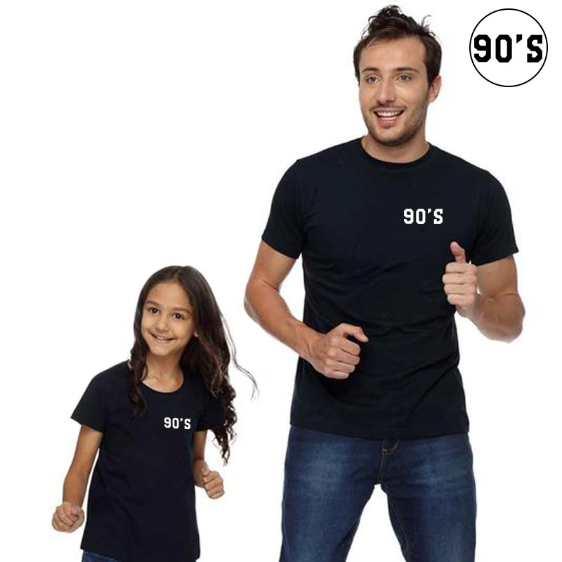 90' S summer family matching clothes t shirts for boys girl mommy and me dad son mom daughter kids o