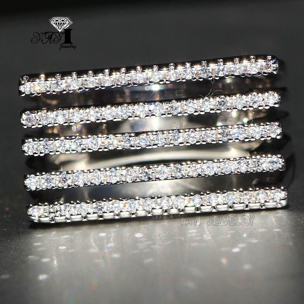 Женское модное обручальное кольцо с белой циркониевой огранкой 5 6 карата