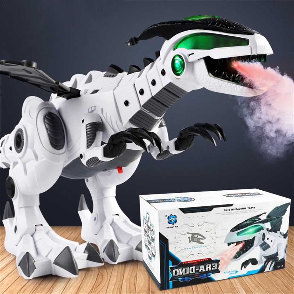 Dinosaurio eléctrico en espray blanco, Pterosaurio mecánico, dinosaurio de juguete mundial con 3 uds, modelo pequeño de dinosaurio