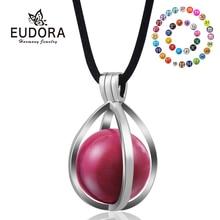 Eudora 20 Mm Zwangerschap Harmony Bola Bal Sieraden Mode Koper Egg Medaillon Hanger Kleurrijke Mexicaanse Bal Ketting Vrouwen Gift H176