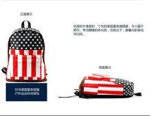 1 stuk Amerikaanse US BRITSE Vlag Star-Spangled Banner Backpack Sjoel Bag Student reistas satchel knapzak rugzak