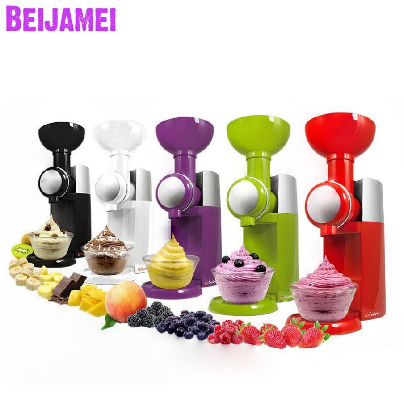 Beijamei 2020 New Electric Household Fruit Ice Cream Machine DIY Homemade Ice Cream Maker
