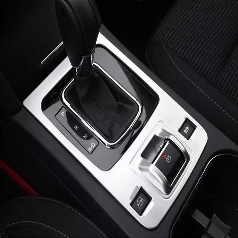 WELKINRY auto cubierta de estilo para Subaru Outback 2014, 2015, 2016, 2017 ABS cromo vara con engranajes cambiar la base de e-freno botón de ajuste