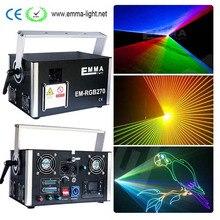 5000mW pure diodo RGB full color 5w show de sistema dmx ilda show de laser de luz do projetor