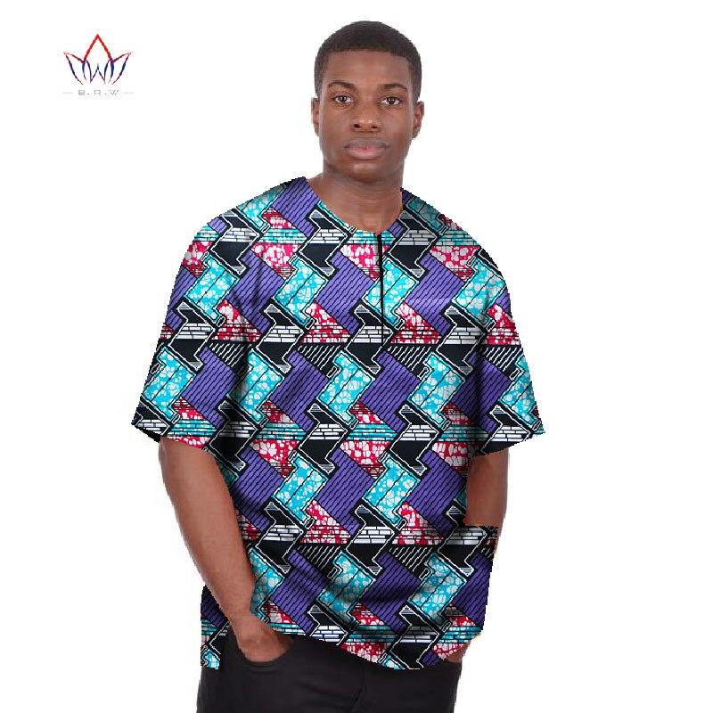 Nuevas camisetas de manga corta Dashiki para hombres, camisetas Dashiki estampado cera africano, camisetas de talla grande para hombres, ropa Africana 6XL BRW WYN01