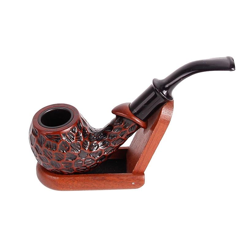 1PC Criativo Esculpida Resina Tabaco Fumar Cachimbo De Madeira de Ébano Destacável Moedor de Pipas Pipas Hierba Fumar Fumar Acessórios