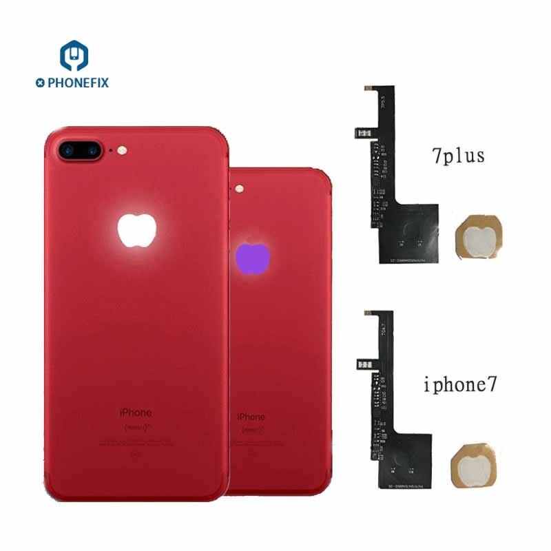 PHONEFIX 16 colores a la luz del logotipo LED Flex Cable para iPhone 6 6S 6P 6SP 7P Touch Control la luz del logotipo LED reemplazar parte