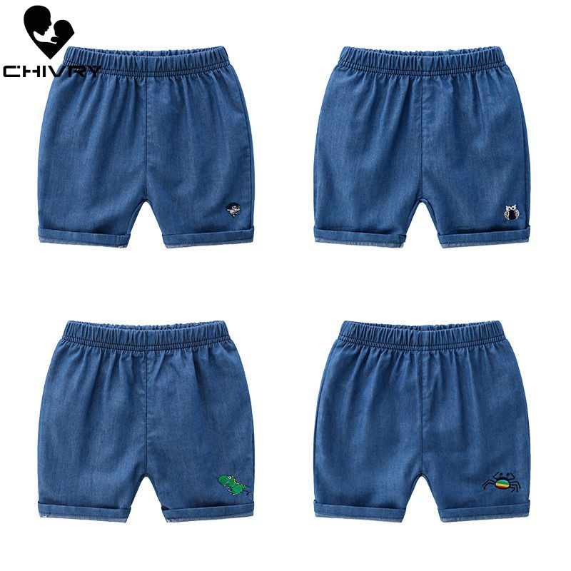 New 2019 Kids Boys Summer Fashion Beach Shorts Children Pants Kids Baby Boys Denim Mid Waist Shorts Trousers for 2-8 Years