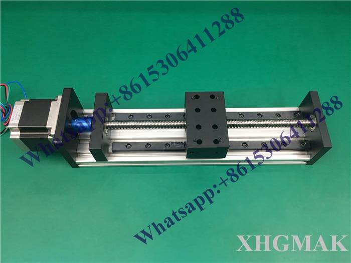 عالية الدقة GX80 * 50 Ballscrew 1204 1000 ملليمتر فعالة السفر + نيما 23 محرك متدرج CNC مرحلة الحركة الخطية Moulde الخطي