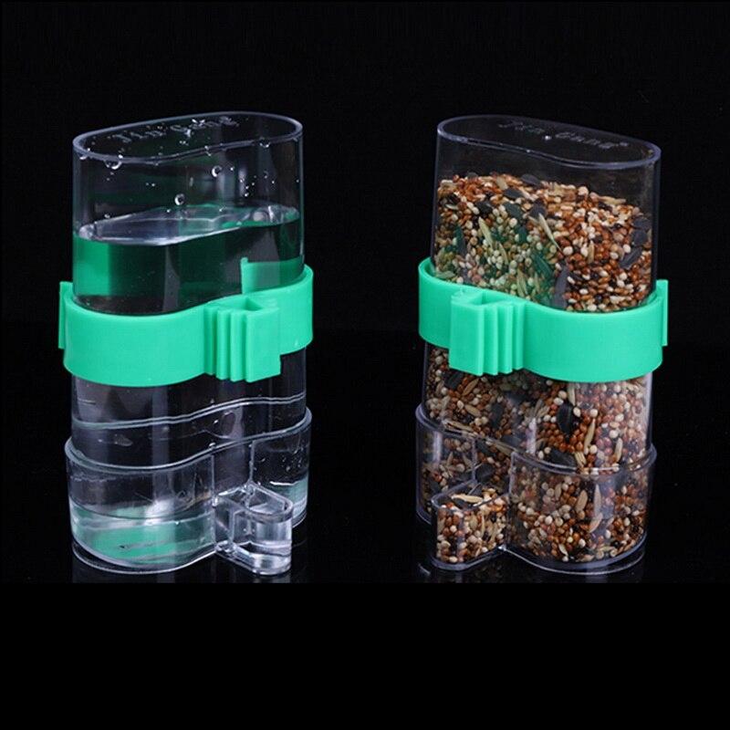 Hoomall alimentadores de pájaros automático trampa de agua pájaros material de jaula accesorios para jaulas de pájaros pájaro bebedero fuente loro utensilios