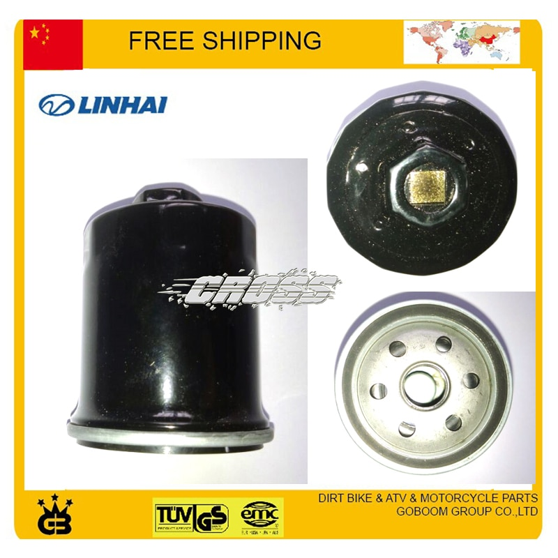Frete grátis filtro de óleo do motor LINHAI 600cc 520CC 550CC lh520 lh550 lh600 ATV UTV PARTES DO FILTRO DE ÓLEO