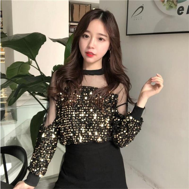 2019 hong kong gosto início da primavera moda juventude vitalidade brilhante ouro costura perspectiva malha jaqueta curta
