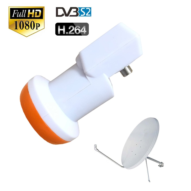 DVB-S2 HD digital tv Antena impermeable Universal KU Band Single LNB bajo ruido 0,1 dB antena satelital sintonizador para cccam tv box