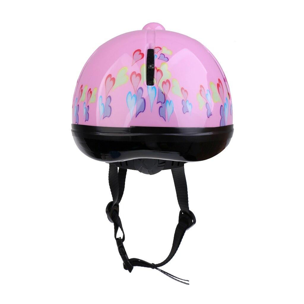 Casco de seguridad ajustable para montar a caballo para niños 2 uds. 48-54 cm-Rosa + morado