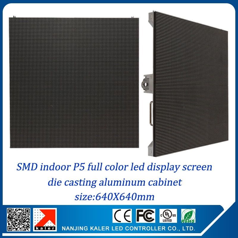 kaler 25'' x 25'' small rental led display video wall P5 640x640mm rental aluminum cabinet RGB  full color video wall indoor led