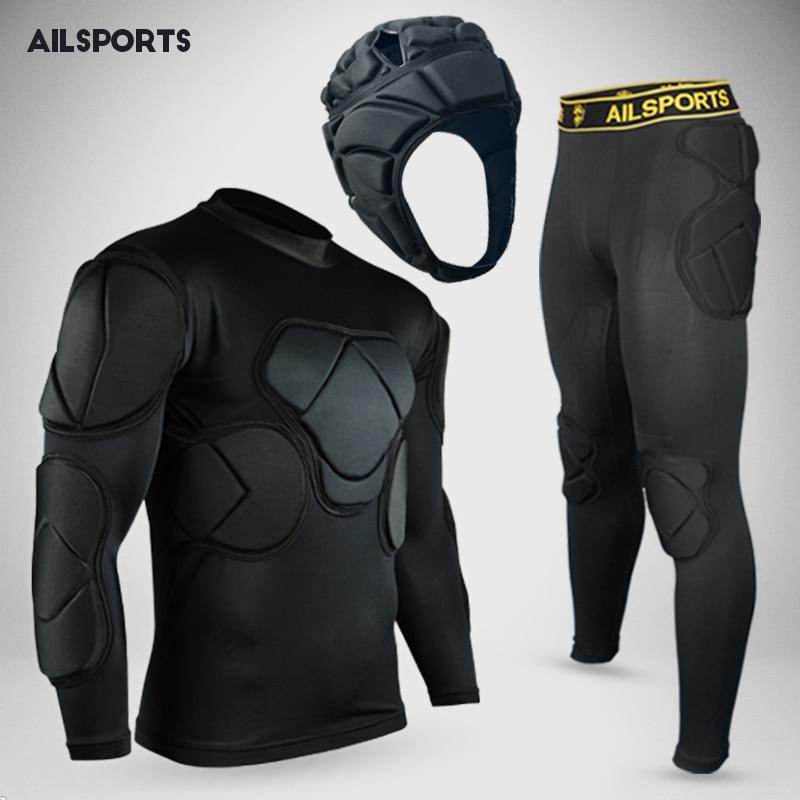 Новый дизайн, спортивная защита, утолщенное снаряжение, футбольный вратарь, трикотажные изделия, футбольный Вратарский Шлем, налокотник, на...