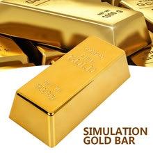 Gefälschte Gold Bar Goldene Kreative Bullion Tür Stop Paperweigh Simulation Tabelle Decor Deluxe Tor Stopper Requisiten Spielzeug Büro Geschenk