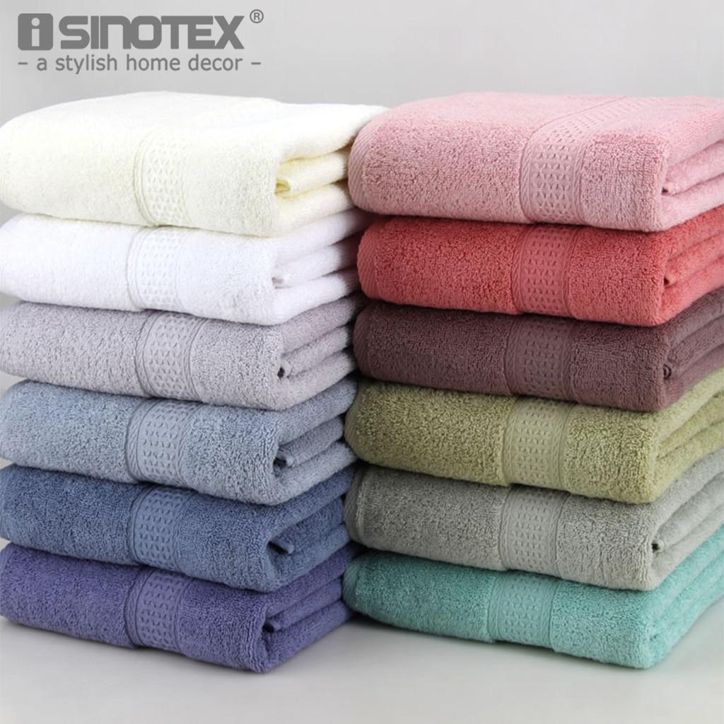 Банное полотенце, впитывающее хлопок, 1 шт., большой размер 70*140 см, быстрое высыхание, 17 видов цветов, мягкое пляжное банное полотенце, плотное спа-полотенце для взрослых