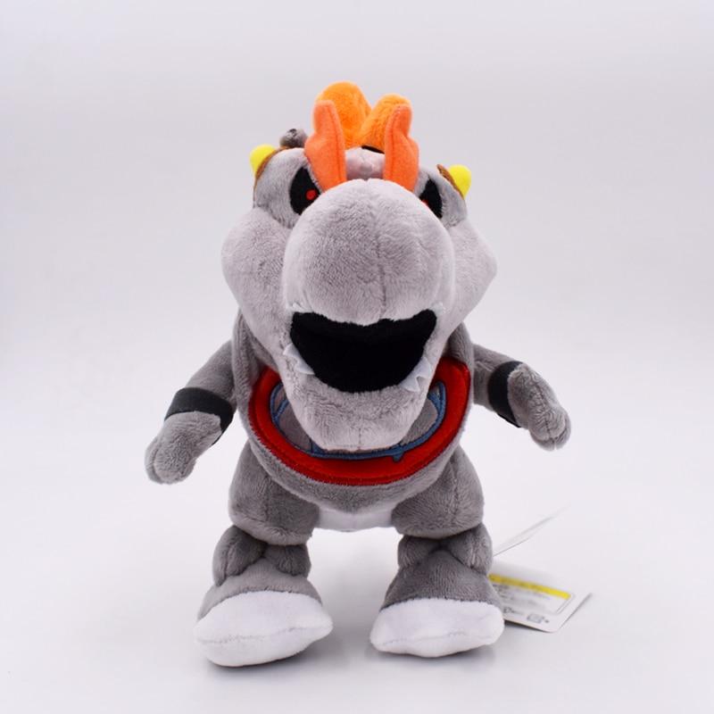 17cm New Super Mario Baby Dry Bones Bowser JR Soft Stuffed Plush Toys Doll Free Shipping