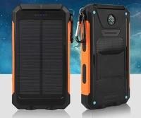 solar power bank real 20000 mah dual usb external waterproof polymer battery charger outdoor light lamp powerbank ferisi