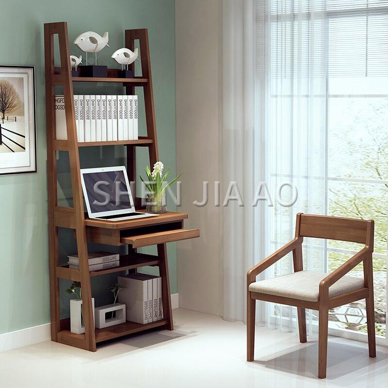 متعددة الوظائف الخشب الصلب مكتب رف الكتب مزيج نوم الزاوية بسيطة خلع الملابس الجدول طاولة الكمبيوتر المتكاملة الجدول 1 قطعة