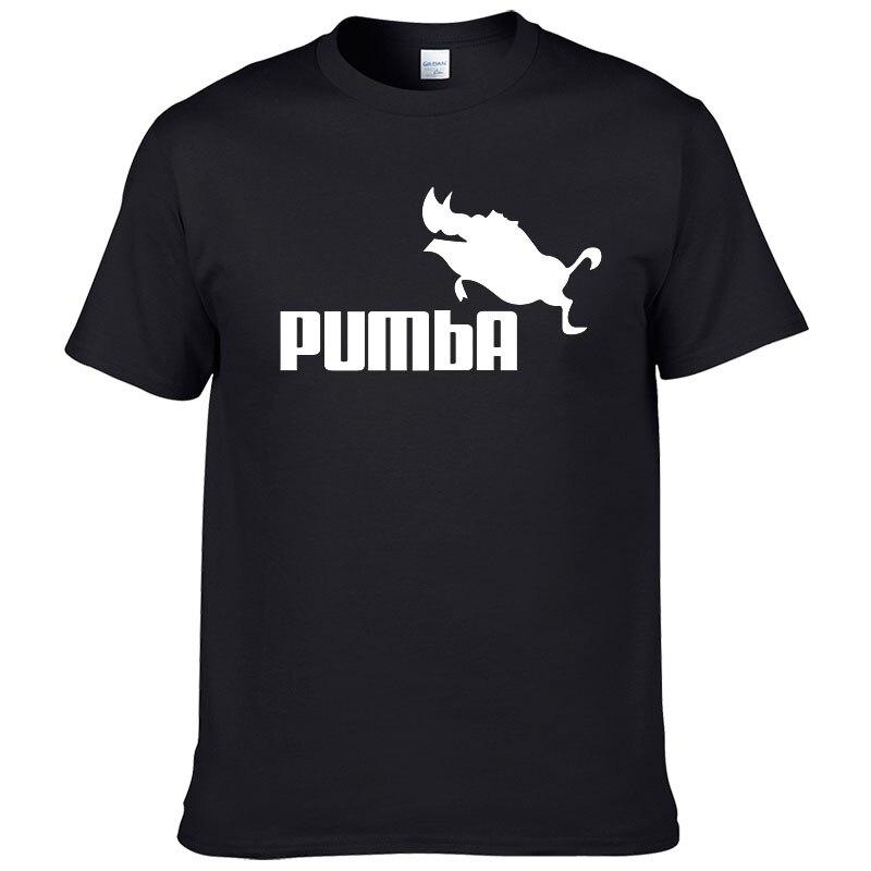 Брендовая футболка PUMBA Lion, хлопковая Футболка King с коротким рукавом для мужчин, Повседневная крутая футболка для мужчин, модная футболка #062