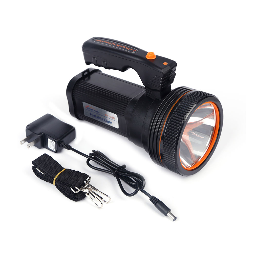 Hunting Friends Rechargeable Portable Spotlight USB LED Flashlight 2 Modes Powerful Seacrchlight+US/EU Charger+ Shoulder Strap enlarge