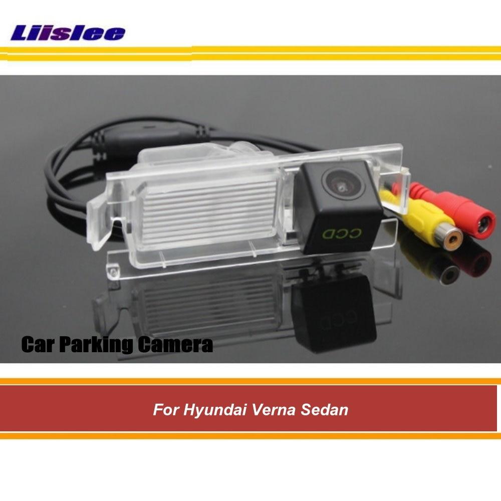 Автомобильная парковочная камера заднего вида для Hyundai Verna Sedan, камера заднего вида AUTO HD SONY CCD III