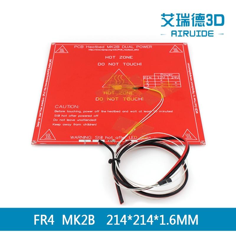 MK2B juego de cama climatizada plataforma de doble voltaje FR4MK2B NTC 3950 sensor de temperatura