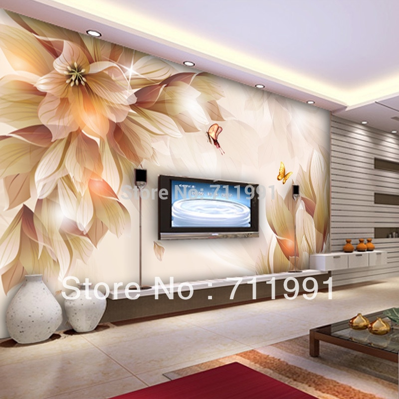 Custom papel DE parede 3 d, large murals papel DE parede floral used in the sitting room the bedroom TV wall vinyl  wallpaper