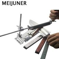 meijuner fixed angle kitchen knife sharpener system kit full metal steel professional 4 sharpening stones kitchen tool mj229