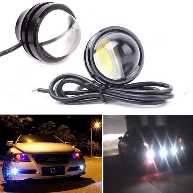 Luz estroboscópica Led de ojo de águila de 15w para coche, lámpara auxiliar de flash antiniebla, luz intermitente de emergencia diurna DRL, luces de respaldo inverso