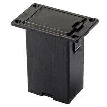 Nouveau 1pc 9V batterie noir support étui boîte compartiment couverture guitare basse pick-up