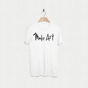 T Shirt Men Summer Mens Tops Cotton Tshirt Fashion Make Art Shirt White Cool Basic Streetwear Punk Plus Size T-Shirt XS-XXXL