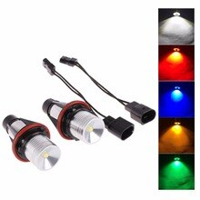 2Pcs 5W LED Angel Eye Halo Ring Marker Light Bulb 10W for BMW E39 E53 E60 E61 E63 E64