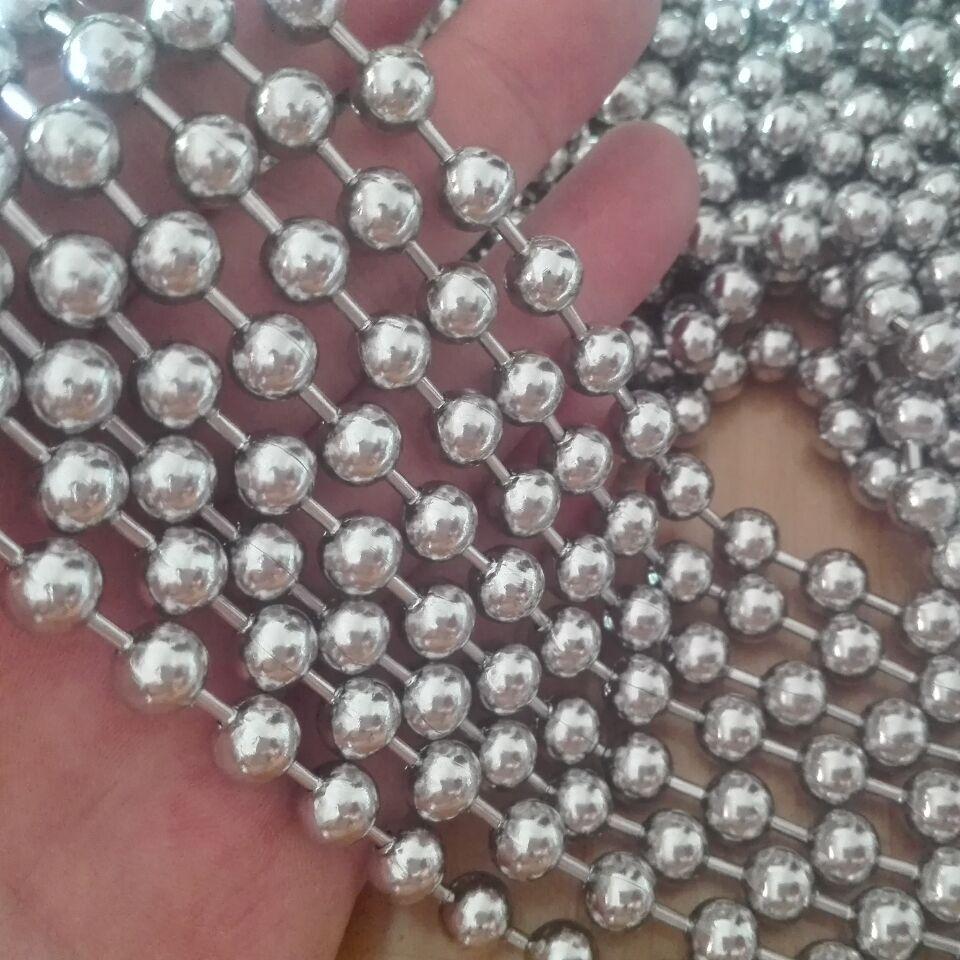 GNAYY lote de 5 metros de plata 1,6mm/2mm/2,4 m/3mm/4mm/6mm/8mm de acero inoxidable, bolas de joyería de cadenas a granel. Resultados de la joyería