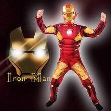 Kids Avengers Iron Man Mark 42 Patriot Spier Kind Halloween Kostuum Jongens Marvel Movie Superhero Cosplay Kleding