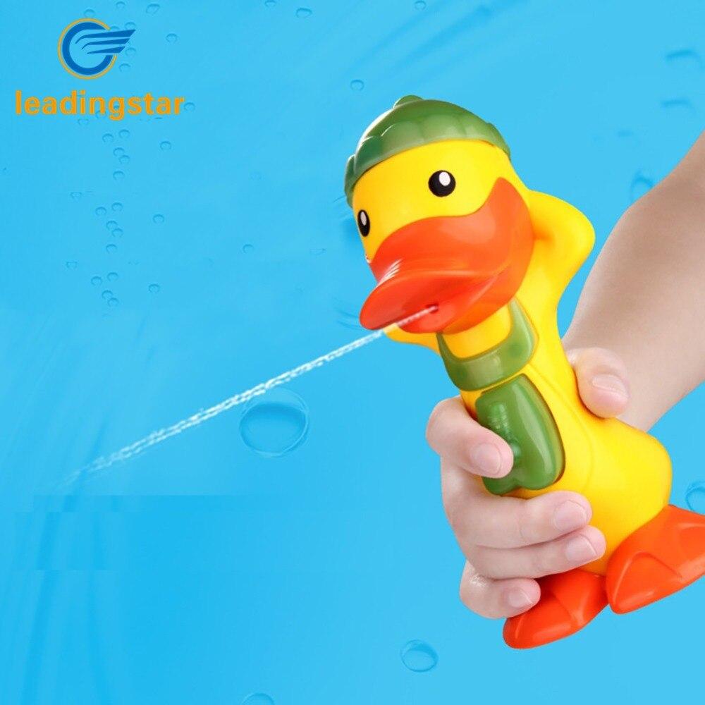 LeadingStar bebé de juguete Discolor pato pistola de agua que detecta la temperatura pato juguetes Giftes para niños zk30